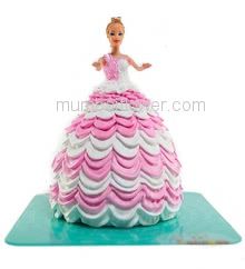 2 Kg. Premium Quality Custom Made Barbie Doll Cake, best in taste and flavour... Order 24 hours in advance. Please note : Cake icing may differ from shown picture.