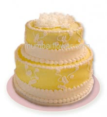 2 Tier Custom made Pineapple Cake 3 Kg. and more, best in flavour and cake... Order 24 hours in advance. Please note : Cake icing may differ from shown picture.