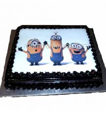 1 Kg. Custom made premium quality Minions Photo Cake... Order 24 hours in advance. Please note : Cake icing may differ from shown picture.