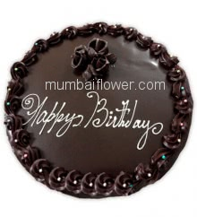Half Kg. Birthday Dark Chocolate Cake, best in quality and taste... Order 24 hours in advance. Please note : Cake icing may differ from shown picture.