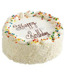 1 Kg. Tutty Fruity Cake for Birthday... Order 24 hours in advance. Please note : Cake icing may differ from shown picture.