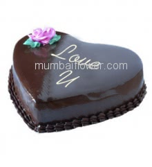 1 Kg. Premium Quality Heart Shape Death By Chocolate Cake, best in taste and flavour... Order 24 hours in advance. Please note : Cake icing may differ from shown picture.