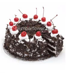 1 Kg. Delicious and Creamy Black Forest Cake Gateau, premium quality and flavour