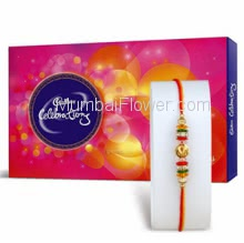 1pc Rakhi with Big Cadbury Celebration 172gms, Raksha Bandhan Celebration Combo. Please note : Rakhi Design / Basket / Boxes /  Container may be replaced in case of unavailability/out of stock.