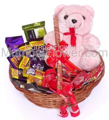 Chocolate Softtoy Basket